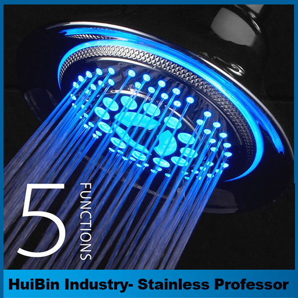 Bathroom 7 Color LED Shower Head with Automatic Changing