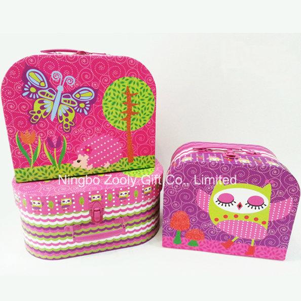 Custom Printing Cardboard Suitcase Cosmetics Box / Wholesale Paper Suitcase Gift Packaging Box