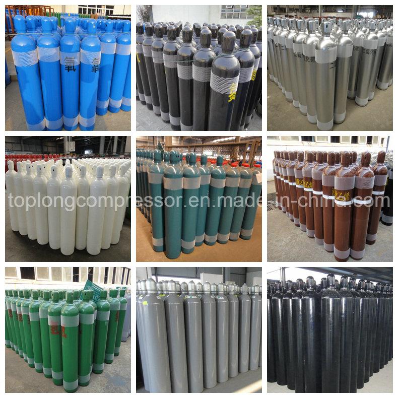 150bar 200bar Seamless Steel Oxygen Nitrogen Hydrogen Argon Helium CO2 Gas Cylinder CNG Cylinder