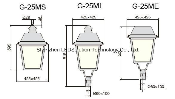 Classical Design LED Street Light Square Garden Lighting