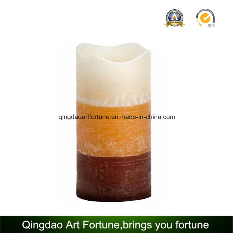 Yellow Light Flameless Wax LED Candle for Outdoor