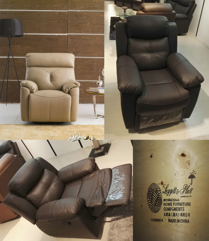 Promotion Manual Recliner Leather Sofa (715)
