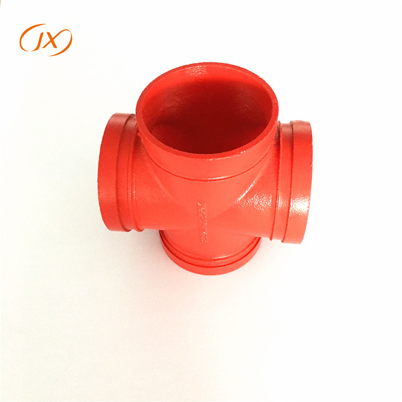 Ductile Iron Grooved Pipe Fittings Equal Cross