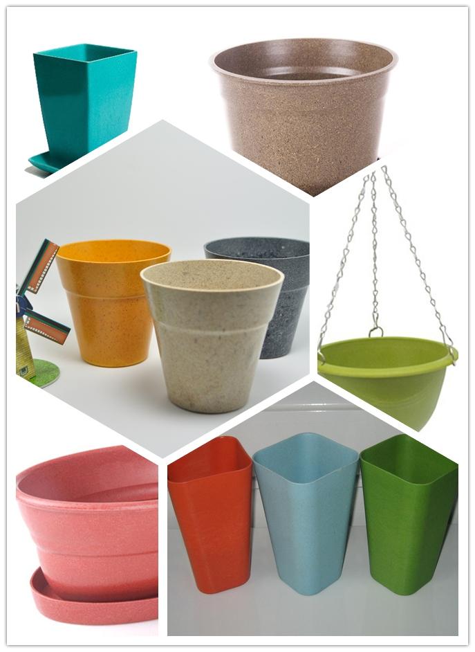 Eco Bamboo Fiber Flower Pot