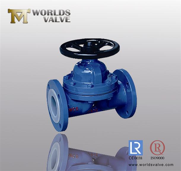 PFA Teflon Lined Diaphragm Valves