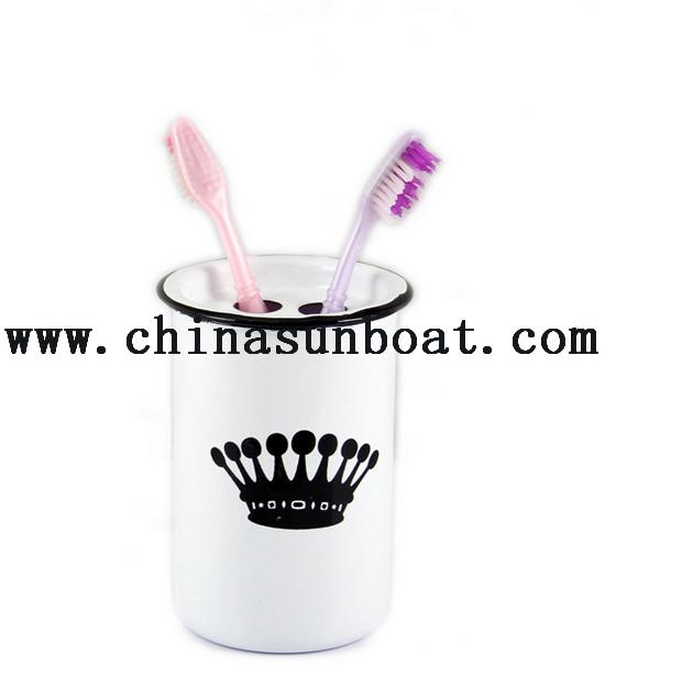 Promotional Enamel Toothbrush Cup