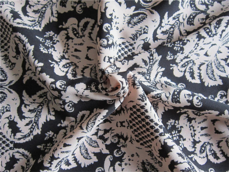 100d Polyester Spandex Hight Twist Chiffon Fabric for Skirt (XSFS-001)