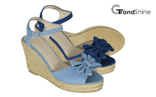 Women's Espadrille Platform Wedge Sandals with Bow
