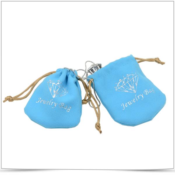 Super Fine Fiber Double Side Pull Rope Jewelry Bag