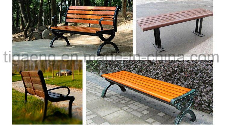 Customized Factory Design Street/Garden/Park DIY WPC Chair/Bench