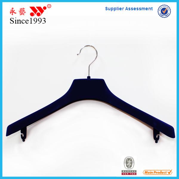 Velvet Suit Clothes Flocked Adult Wide Shouder Plastic Hanger