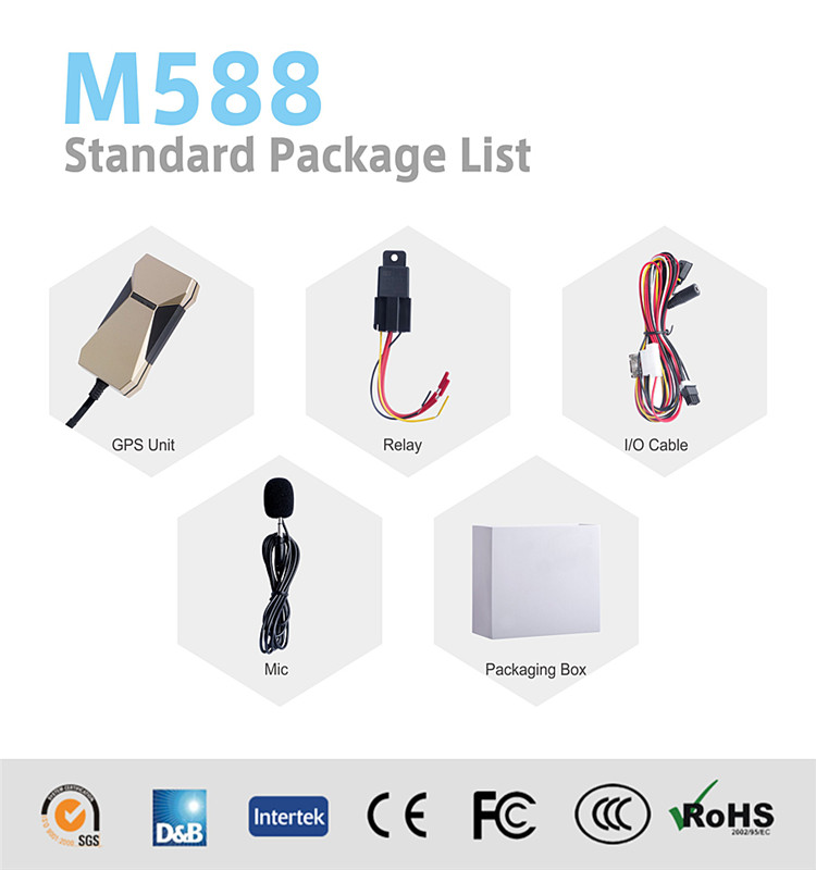 GPS Car Tracking Device with Free Platform M588