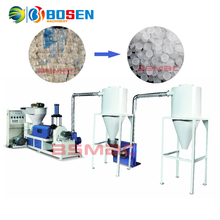 Air Cooling Model Waste PP PE Plastic Recycling Machines Sale