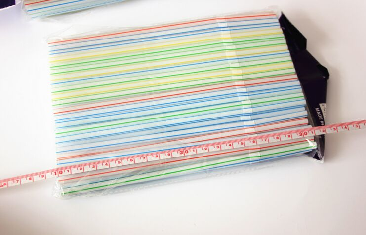 Plastic Drinking Straw with Logo Printing, Customized Ad Straw