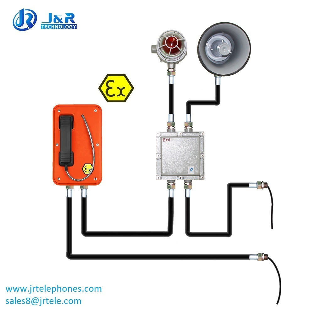 Top-Rated Vandal Resistant Explosion Proof Hotline Analog Telephone for Heavy Duty Industry
