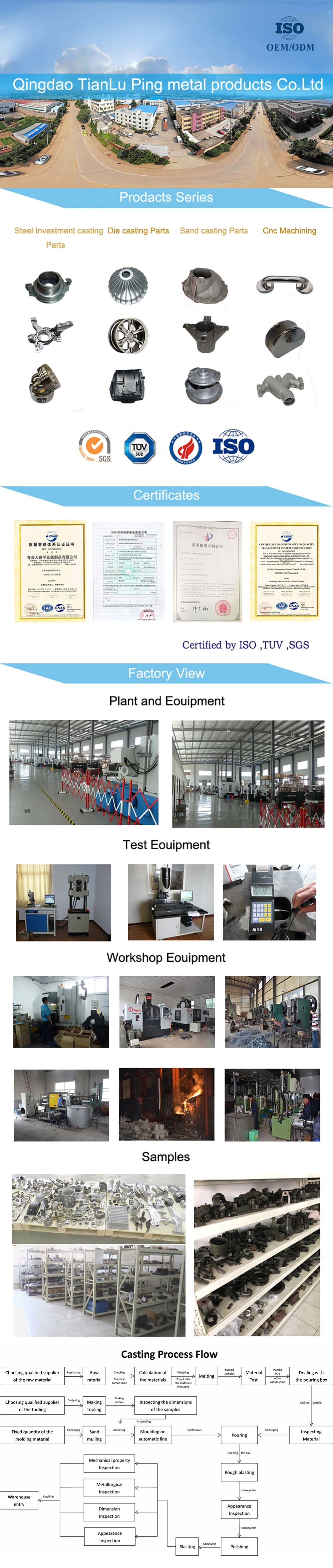 Precision Investment Casting Stainless Steel 304 Transmission Wheel Equipment Parts