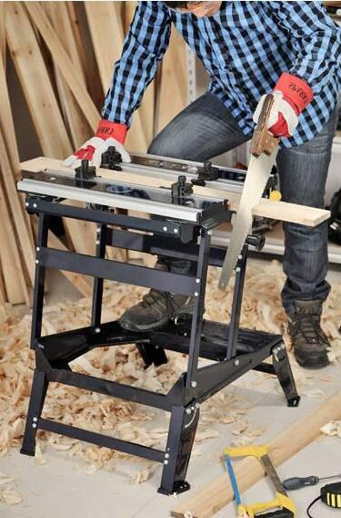 6 Position Height Adjustable Aluminium and Steel Workbench Bench Top Woodworking Tools (YH-WB026B)