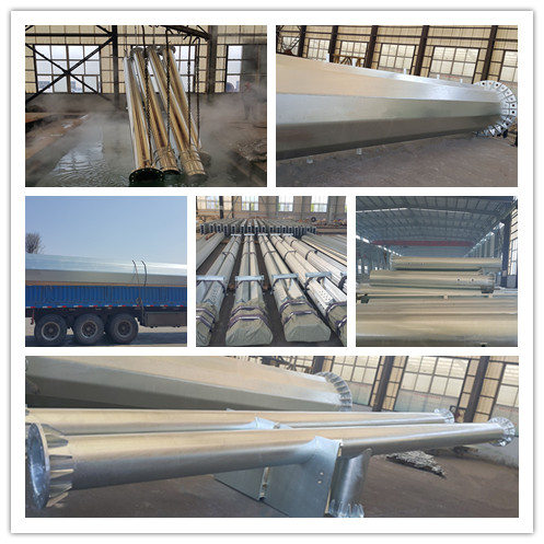 500kv Double Circuit Linear Power Transmission Steel Pipe Tower