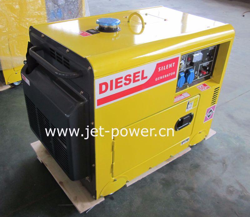 Portable 5kw/5kVA Silent Welder Diesel Generator