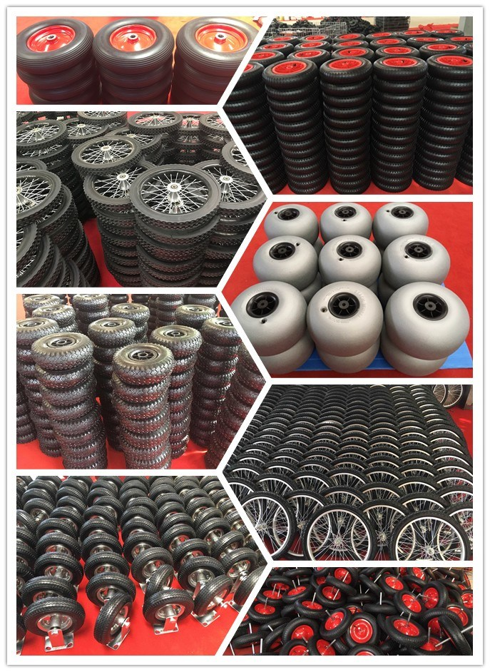 16 Inch/20 Inch Semi-Pneumatic Rubber Bicycle Wheel
