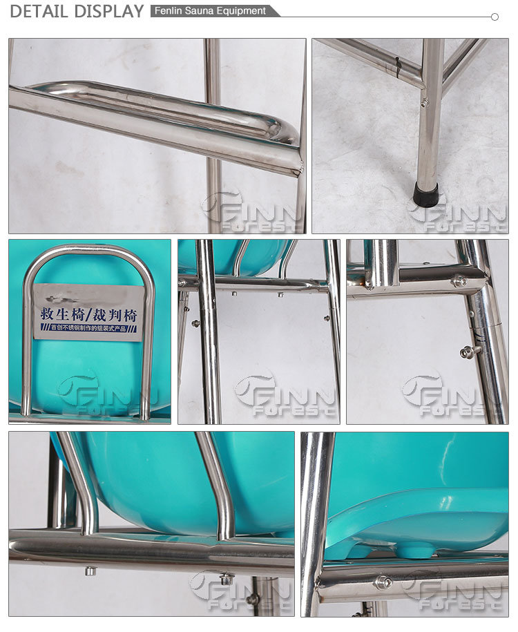 High Quality Stainless Steel Life Guard Chairs for Swimming Pool