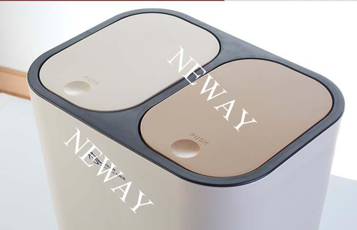 New Style Double Lids Plastic Waste Bins
