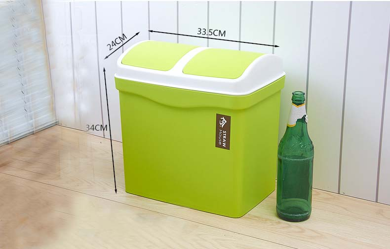 Cheap High Quality Double Shake Classify Plastic Dust Bin