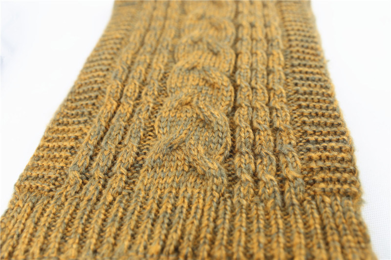 Womens Unisex Winter Warm Color Mixed Cable Heavy Knitted Scarf (SK165)