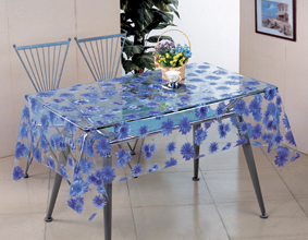 Transparent PVC Printed Tablecloths Wholesale