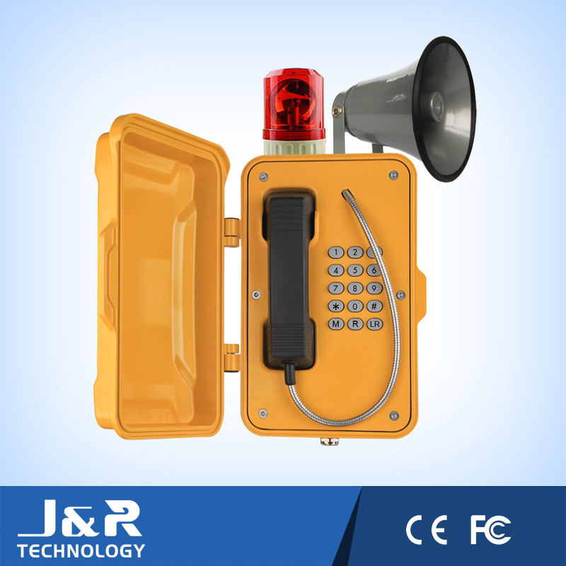 Emergency Intercom Tunnel Telephone, Broadcasting Port Robust Vandalproof Telephone