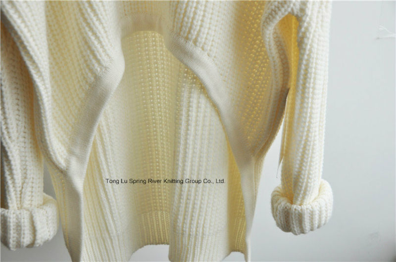Chunky Pure Color Knit Sweater for Ladies