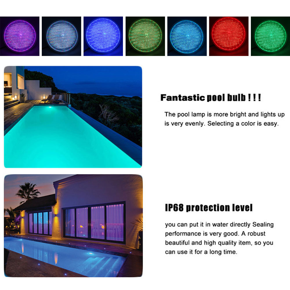 35W IP68 316 Stainless Steel Recessed PAR56 LED Swimming Pool Light