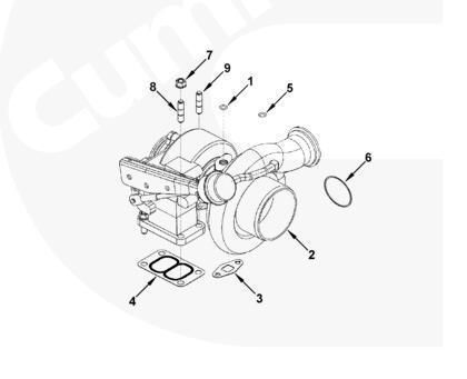 High Quality Holset Diesel Engine Parts 4035862 Hx82 Qskv60 Turbocharger