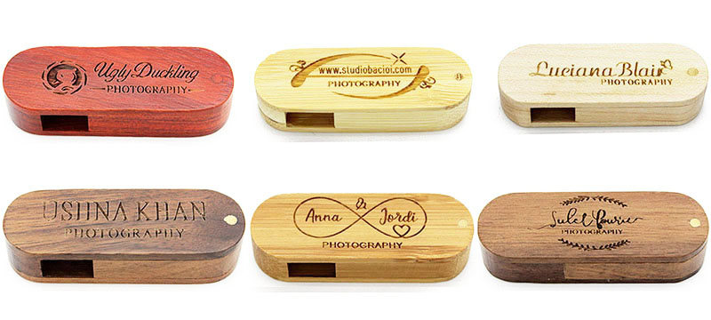Wood Usb Flash Drive with Box