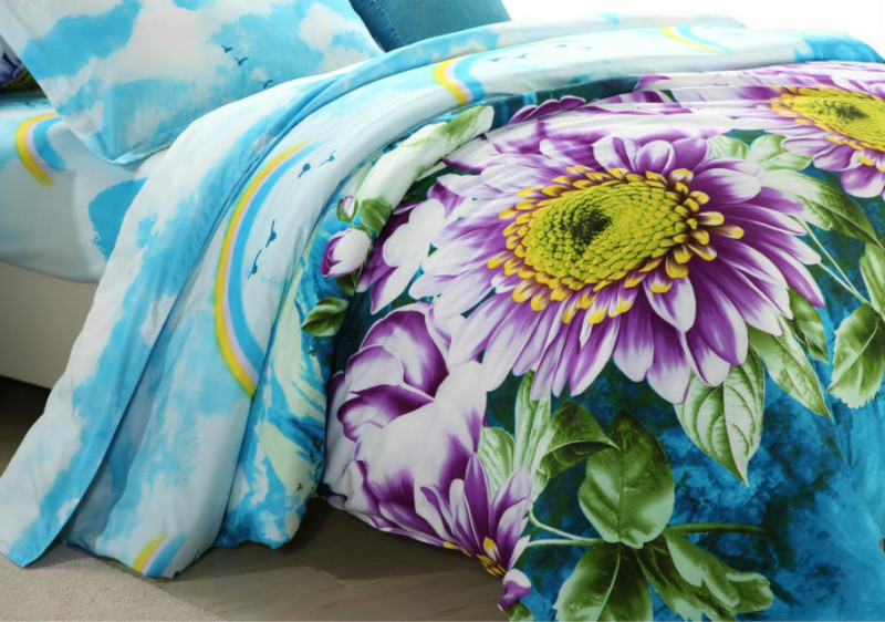 100%Polyester Microfiber Brushed Fabric for Bedding Sheet 3D