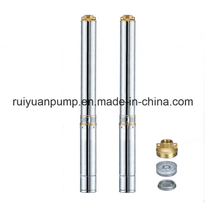 4SD Copper Wire 1.25HP Brass Outlet&Inlet Submersible Deep Well Water Pump for Pressure Boosting