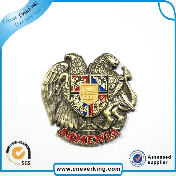 Custom Metal Cap Name Badge Blank India Flag Badge