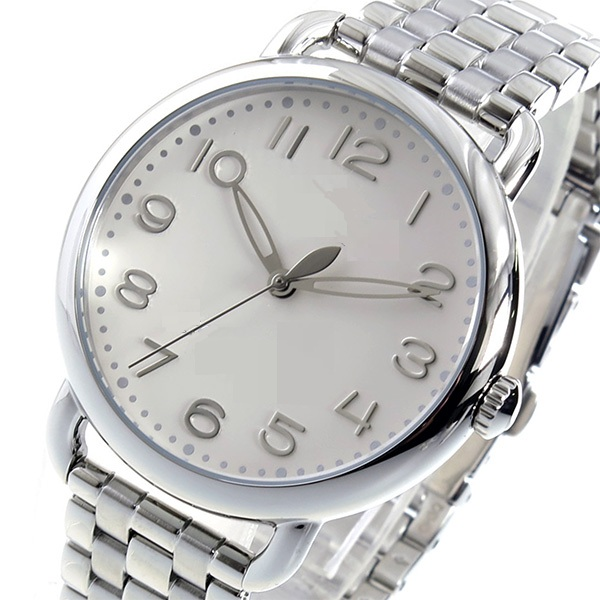 Classical 316L Stainless Steel Bracelet Watch, with Rhinestones for Both Men and Women
