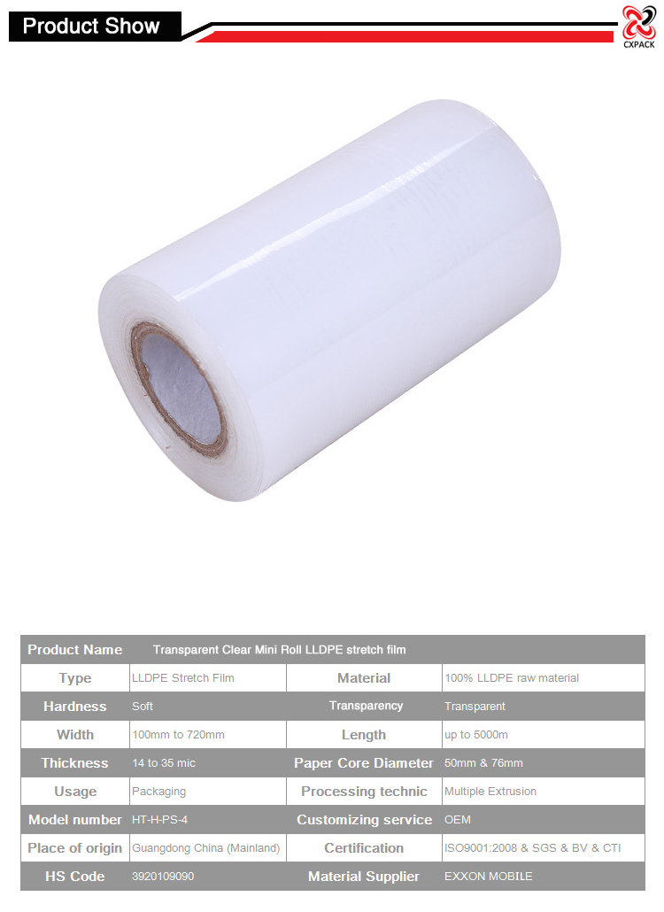 Black Pallet Stretch Wrap Cling Film