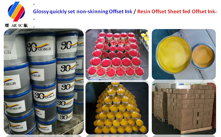 Glossy Quickly Set Non Skinning Sheetfed Printing Offset Ink