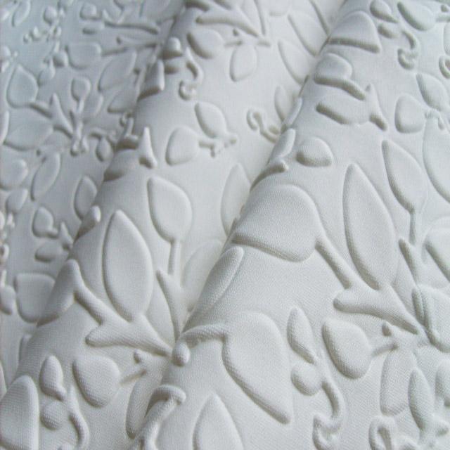 3d Emboss Polyester Scuba Jersey Fabric