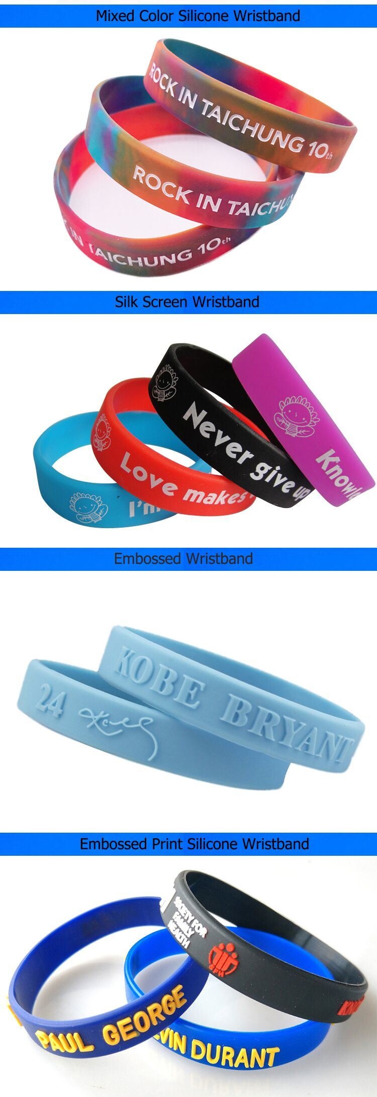 The Cheapest Environmental Silicone Custom Ring for Advertising
