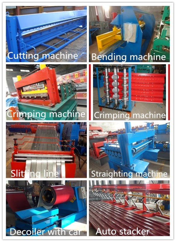 Corrugated Iron Sheet Metal Roof Tile Roll Forming Machine