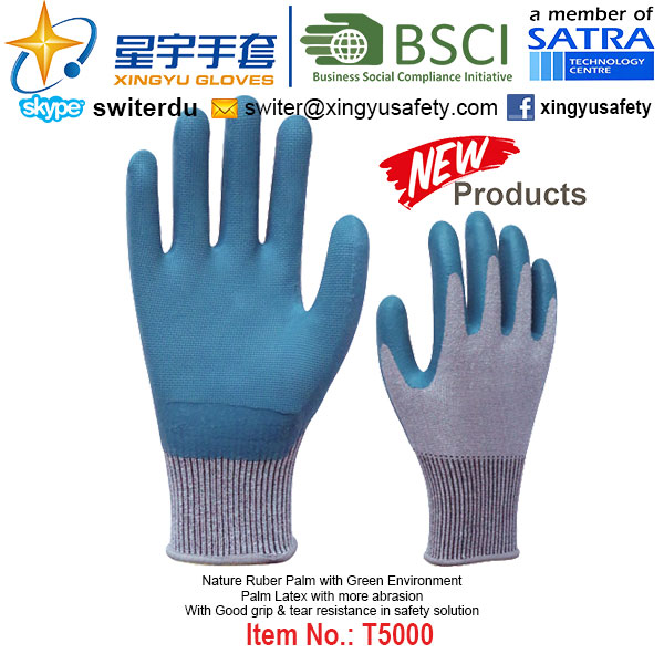 (Patent Products) Latex Coated Green Environment Gloves T3003
