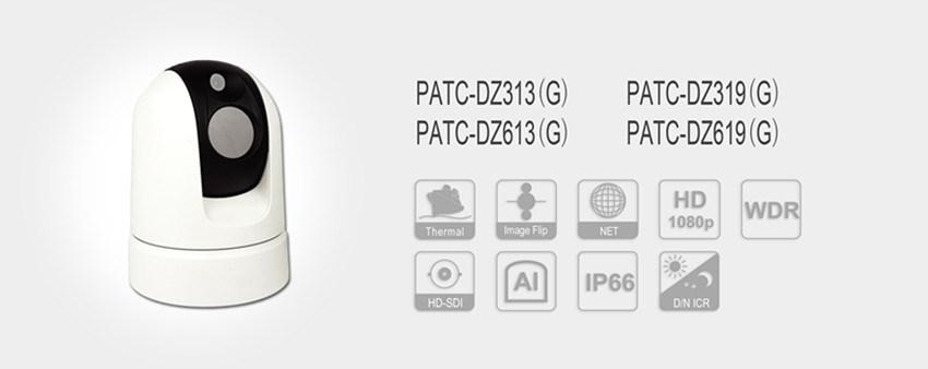 Dual HD-Sdi Vehicle IP PTZ Dome Thermal Imaging Camera