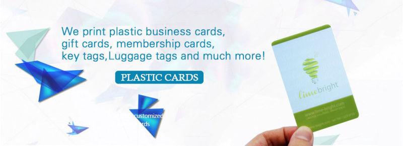 China Kreditkartengröße Kunststoff Visitenkarten Mit