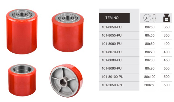 Hot Sale 100X80mm PU&Nylon Forklift Wheel for Industrial