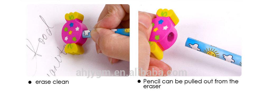 Foska Cartoon Design Pencil with Topper Eraser