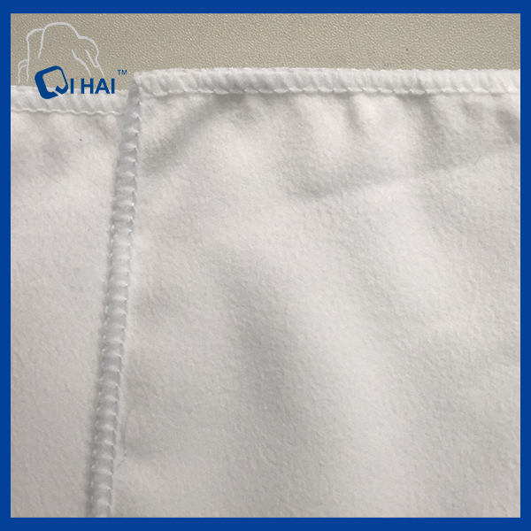 Microfiber Suede Bleach White Fabric (QHAD666)