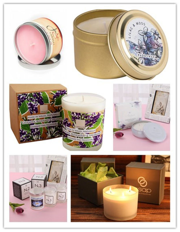 Latest Craft Customized Tin Pure Soy Candle for Holiday